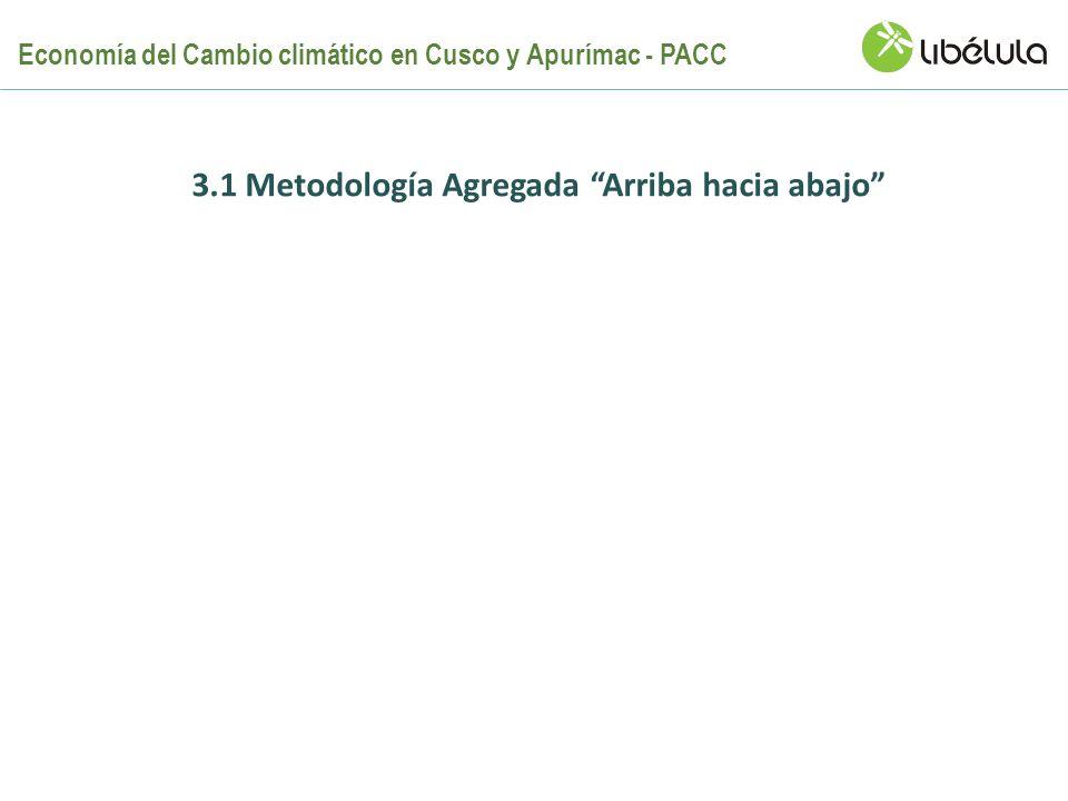 3.1 Metodología Agregada Arriba hacia abajo Economía del Cambio climático en Cusco y Apurímac - PACC