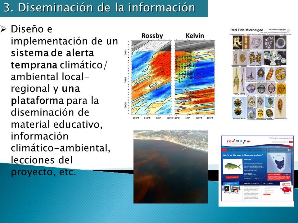 Diseño e implementación de un sistema de alerta temprana climático/ ambiental local- regional y una plataforma para la diseminación de material educat
