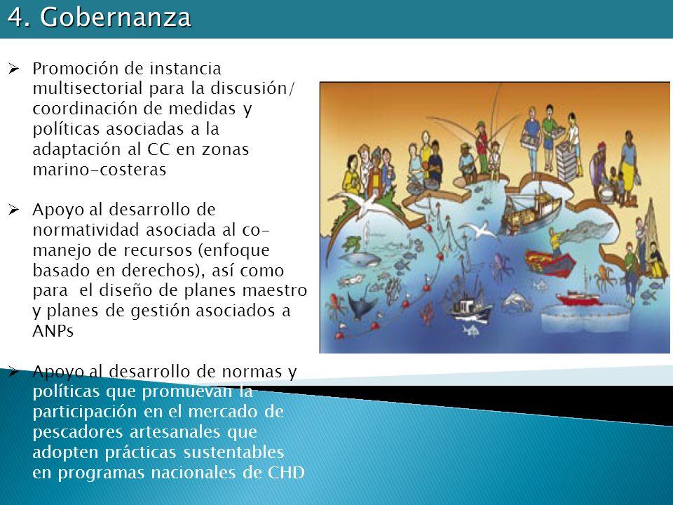 Promoción de instancia multisectorial para la discusión/ coordinación de medidas y políticas asociadas a la adaptación al CC en zonas marino-costeras