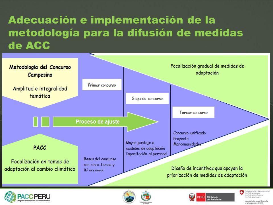 Adecuación e implementación de la metodología para la difusión de medidas de ACC