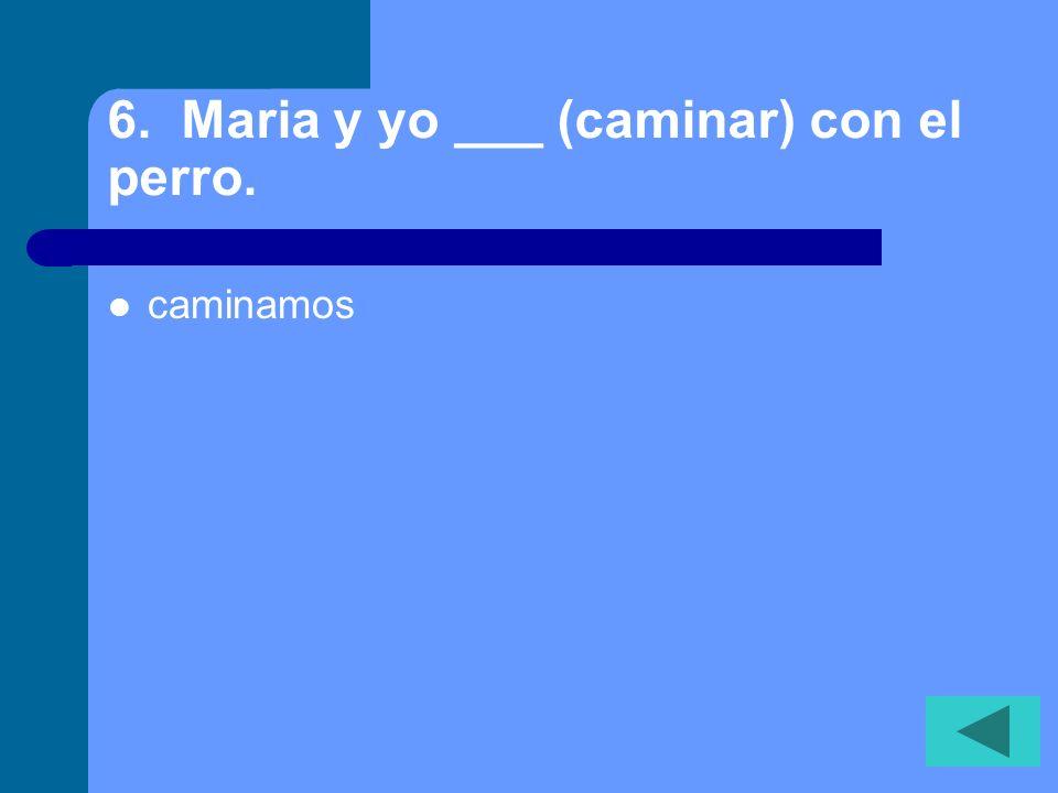 5. Carlos y Maria ___ (ser) de Espana. son