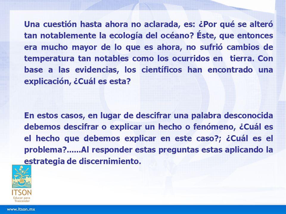 ESTRATEGIA PARA APLICAR EL PROCESO DE DISCERNIMIENTO EN LA LECTURA 1.Leer el fragmento 2.