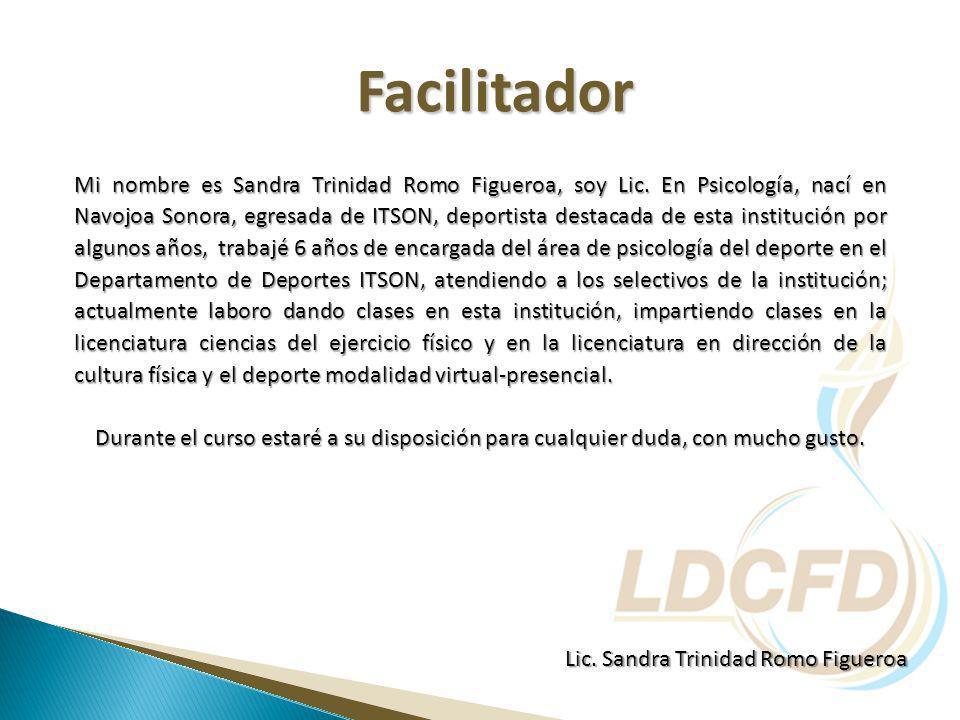 Mi nombre es Sandra Trinidad Romo Figueroa, soy Lic.