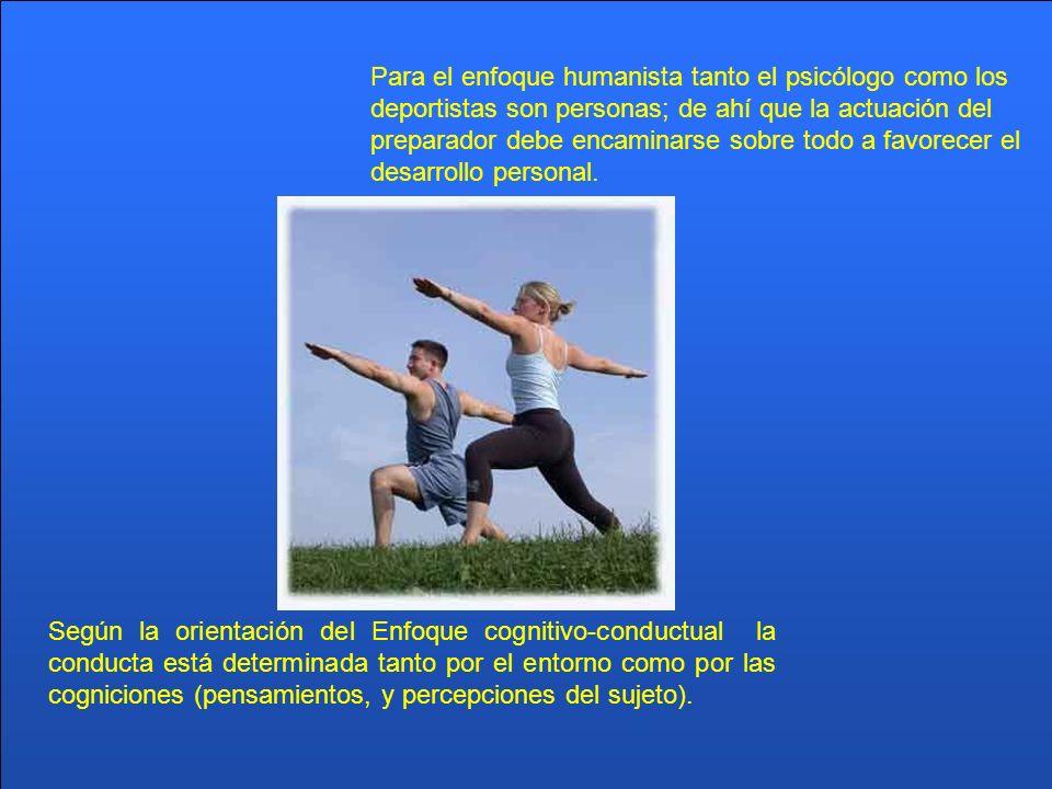 Según la orientación del Enfoque cognitivo-conductual la conducta está determinada tanto por el entorno como por las cogniciones (pensamientos, y perc