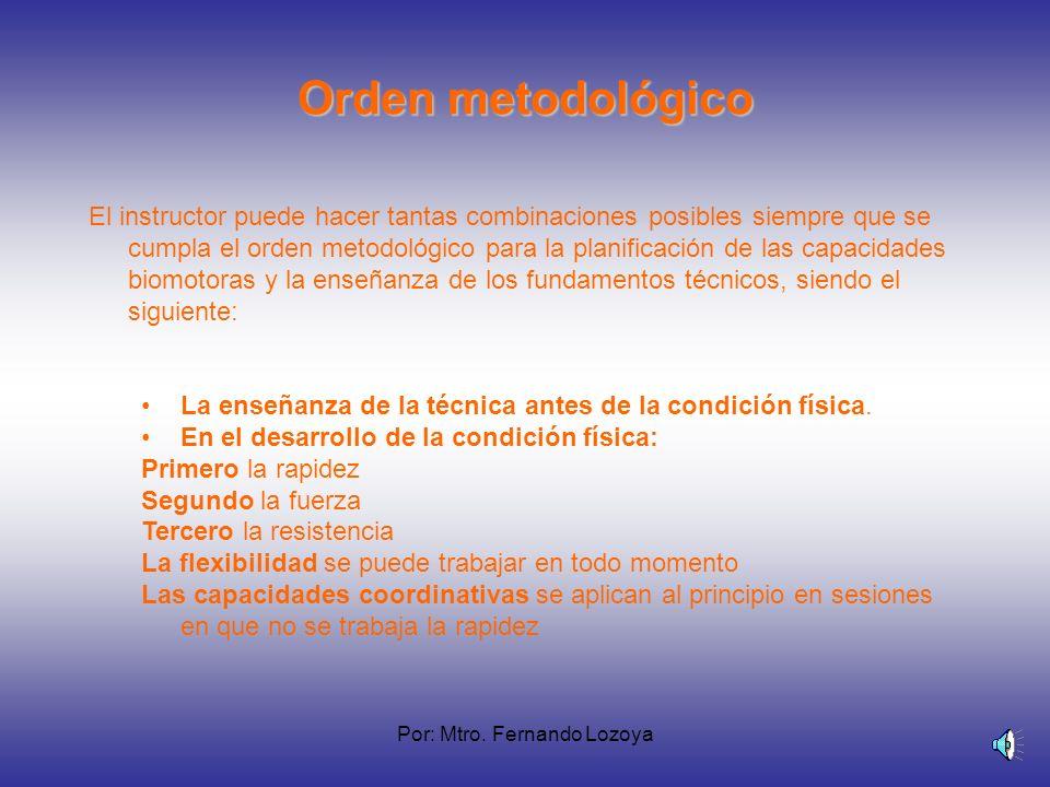Por: Mtro. Fernando Lozoya Combinaciones metodológicas Es importante conocer que en una sesión se pueden combinar hasta tres capacidades a continuació