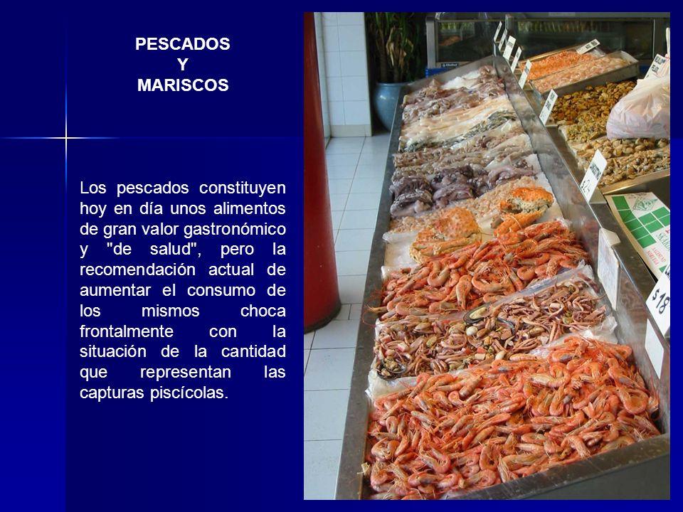 PESCADOS Y MARISCOS Los pescados constituyen hoy en día unos alimentos de gran valor gastronómico y