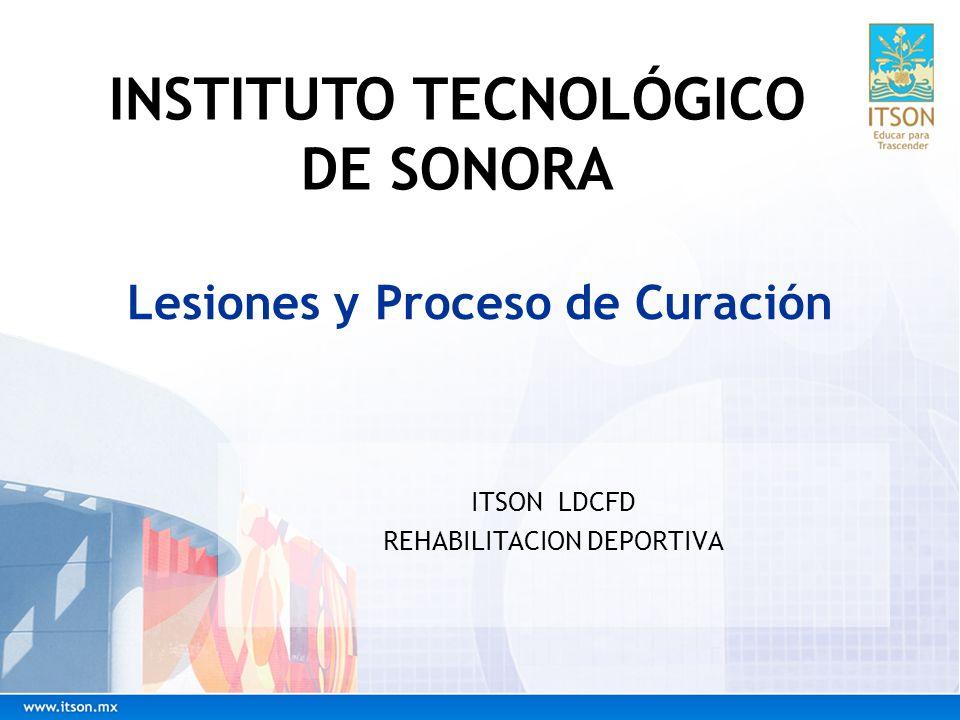Lesiones y Proceso de Curación ITSON LDCFD REHABILITACION DEPORTIVA INSTITUTO TECNOLÓGICO DE SONORA