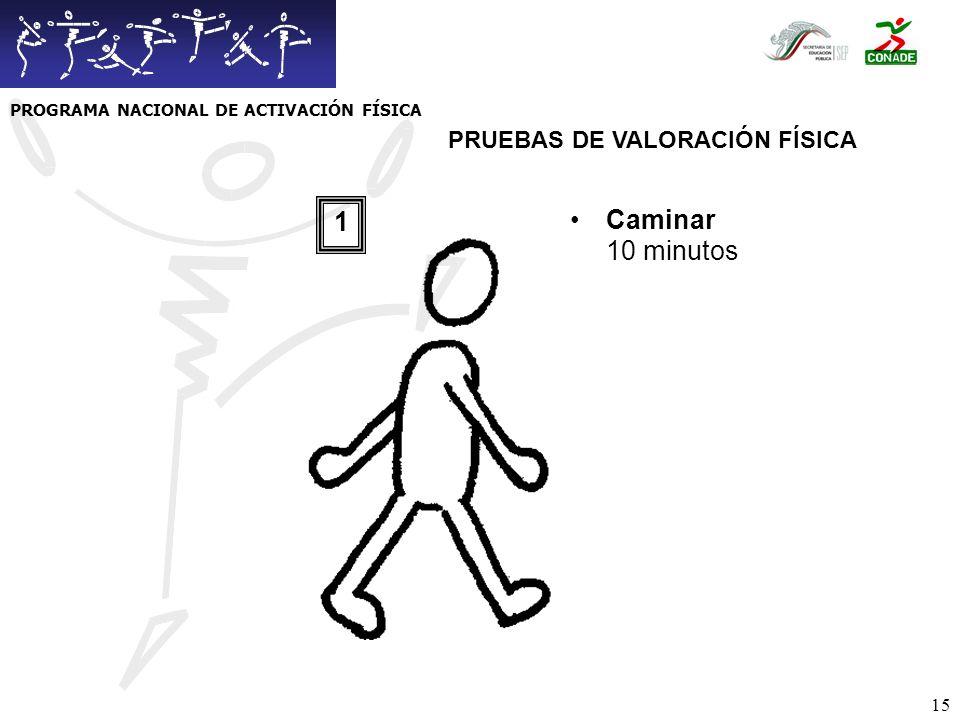 16 LLagartijas (en 60 seg) 2 PRUEBAS DE VALORACIÓN FÍSICA PROGRAMA NACIONAL DE ACTIVACIÓN FÍSICA