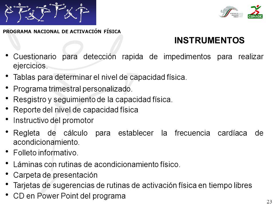 24 PLAN DE OPERACIÓN PROGRAMA NACIONAL DE ACTIVACIÓN FÍSICA