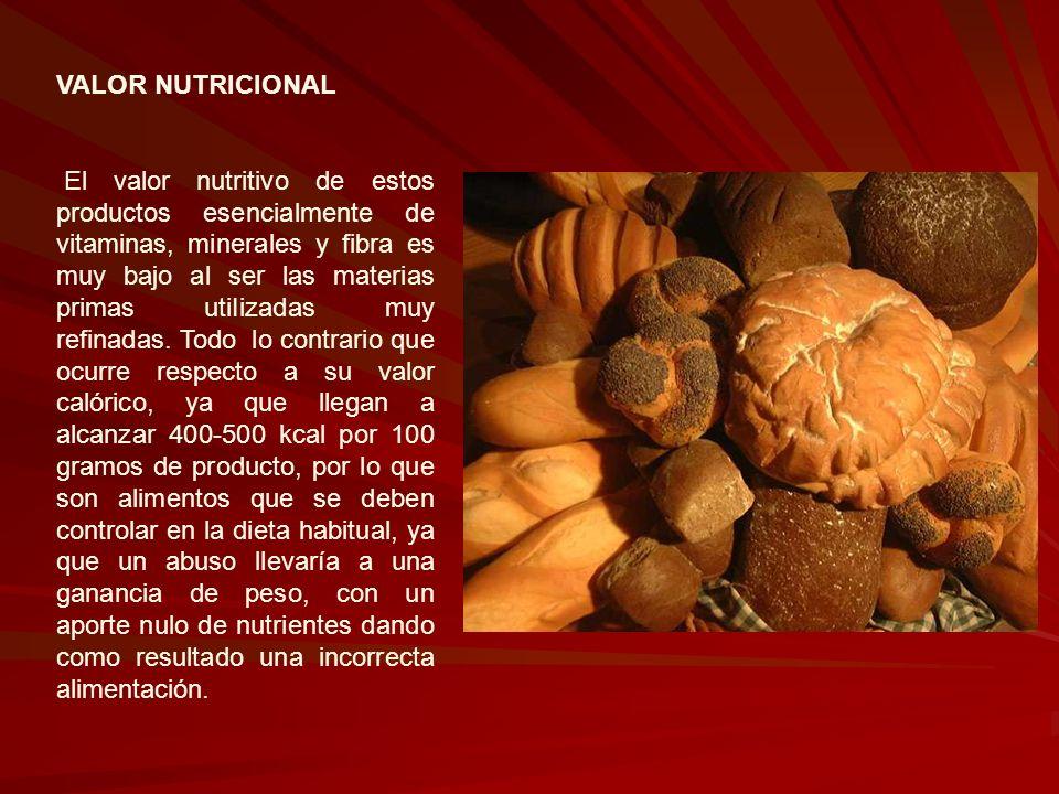 VALOR NUTRICIONAL El valor nutritivo de estos productos esencialmente de vitaminas, minerales y fibra es muy bajo al ser las materias primas utiIizada
