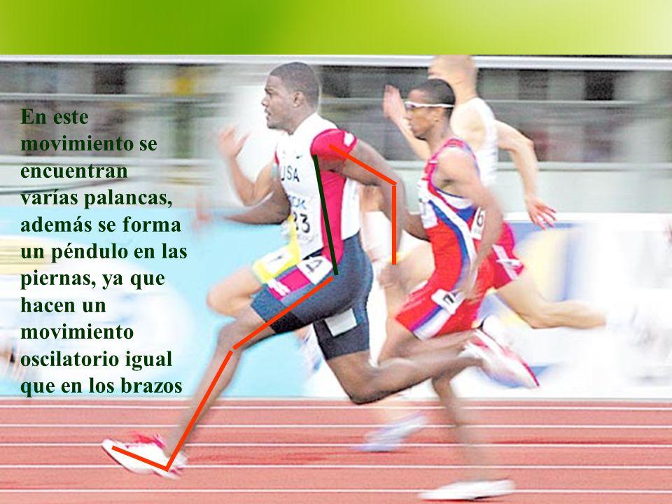 En este movimiento se encuentran varías palancas, además se forma un péndulo en las piernas, ya que hacen un movimiento oscilatorio igual que en los b
