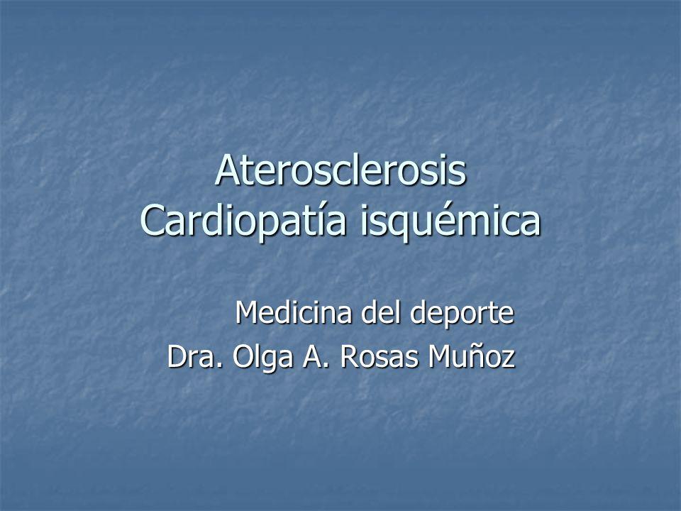 Aterosclerosis Cardiopatía isquémica Medicina del deporte Dra. Olga A. Rosas Muñoz