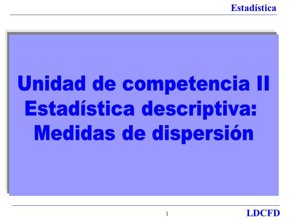 Estadística LDCFD 2 Si se tienen datos respecto a los promedios, se cuenta con cierta información del desempeño de grupos o individuos, pero no lo suficiente para que sea de utilidad.
