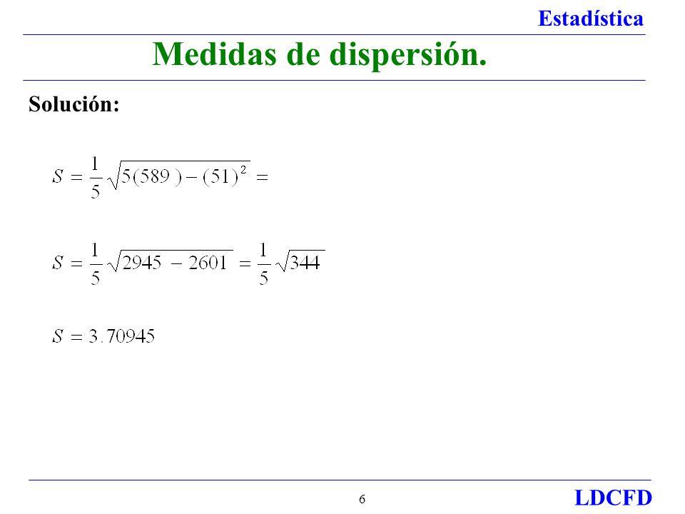 Estadística LDCFD 7 Ejercicio 2.