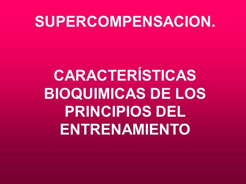 SUPERCOMPENSACION. CARACTERÍSTICAS BIOQUIMICAS DE LOS PRINCIPIOS DEL ENTRENAMIENTO