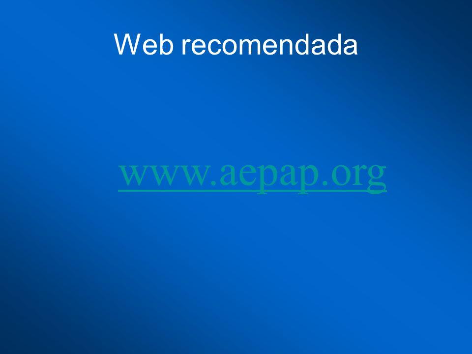 Web recomendada www.aepap.org