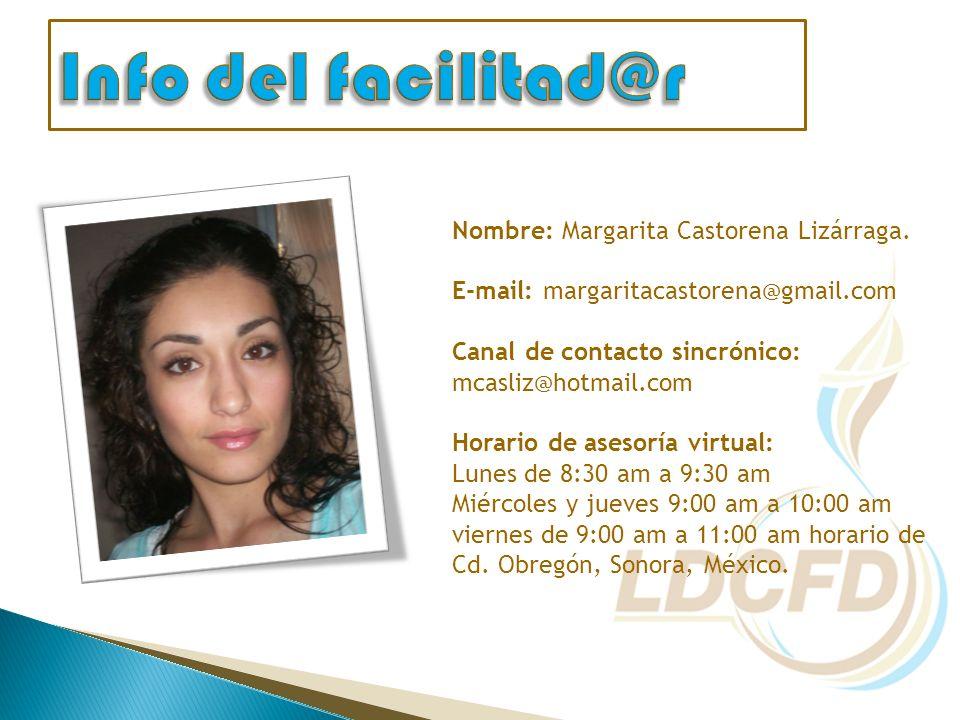 Nombre: Margarita Castorena Lizárraga.