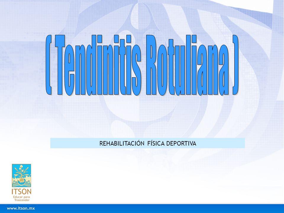 REHABILITACIÓN FÍSICA DEPORTIVA