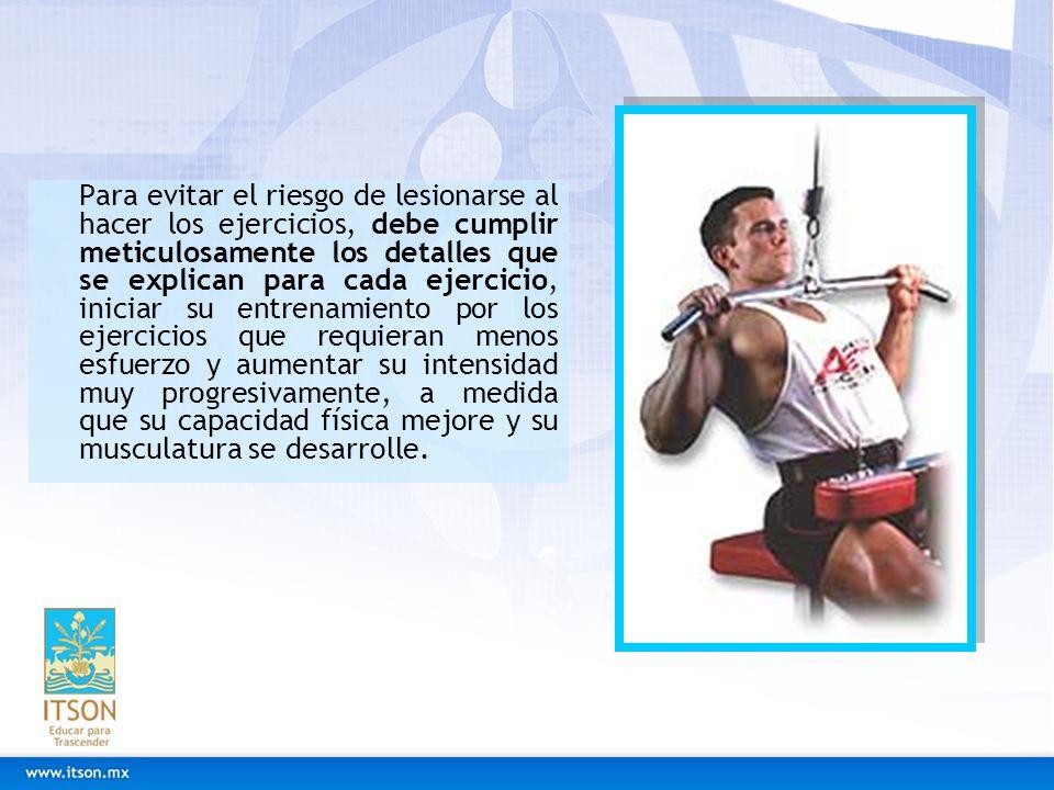 Fortalecer Espalda Si la realización de cualquiera de los ejercicios recomendados le provoca dolor, interrúmpalo.