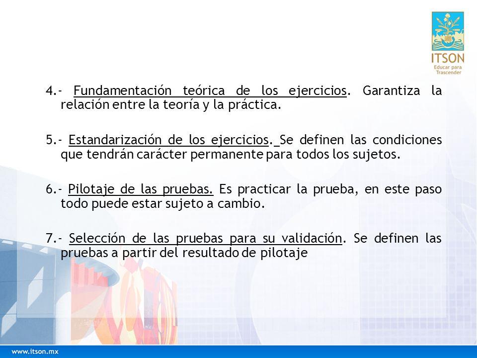 Estructura de presentación de pruebas CONCEPTODEFINICIÓN Nombre de la pruebaComo es el elemento que lo identifica, se trata de que en él estén los aspectos esenciales que miden la prueba.