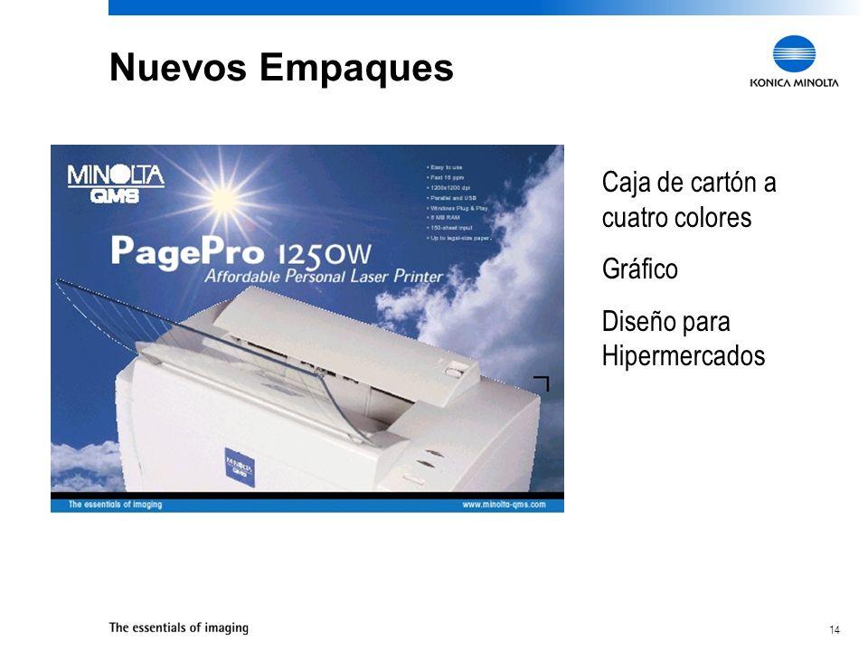 14 Nuevos Empaques Caja de cartón a cuatro colores Gráfico Diseño para Hipermercados