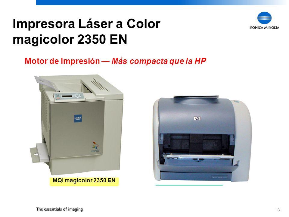 13 Motor de Impresión Más compacta que la HP MQI magicolor 2350 EN HP Color LaserJet 2500 Impresora Láser a Color magicolor 2350 EN