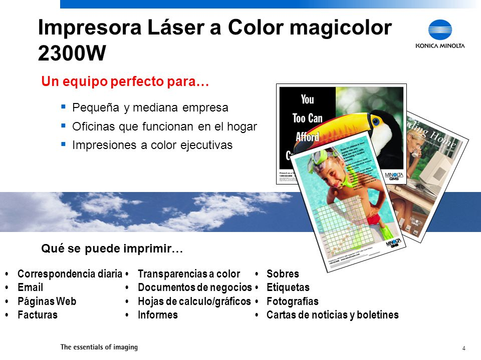 5 Línea de Productos a Color Económicas de Konica Minolta magicolor 2300 DL *After manufacturers rebate.