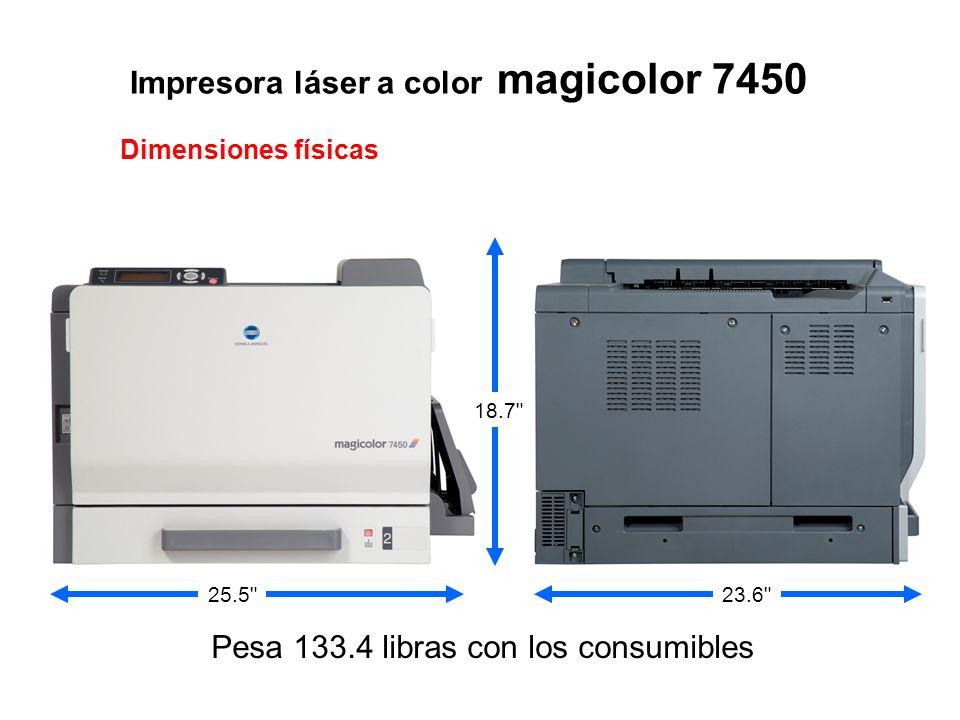 Impresora láser a color magicolor 7450 Dimensiones físicas 23.6