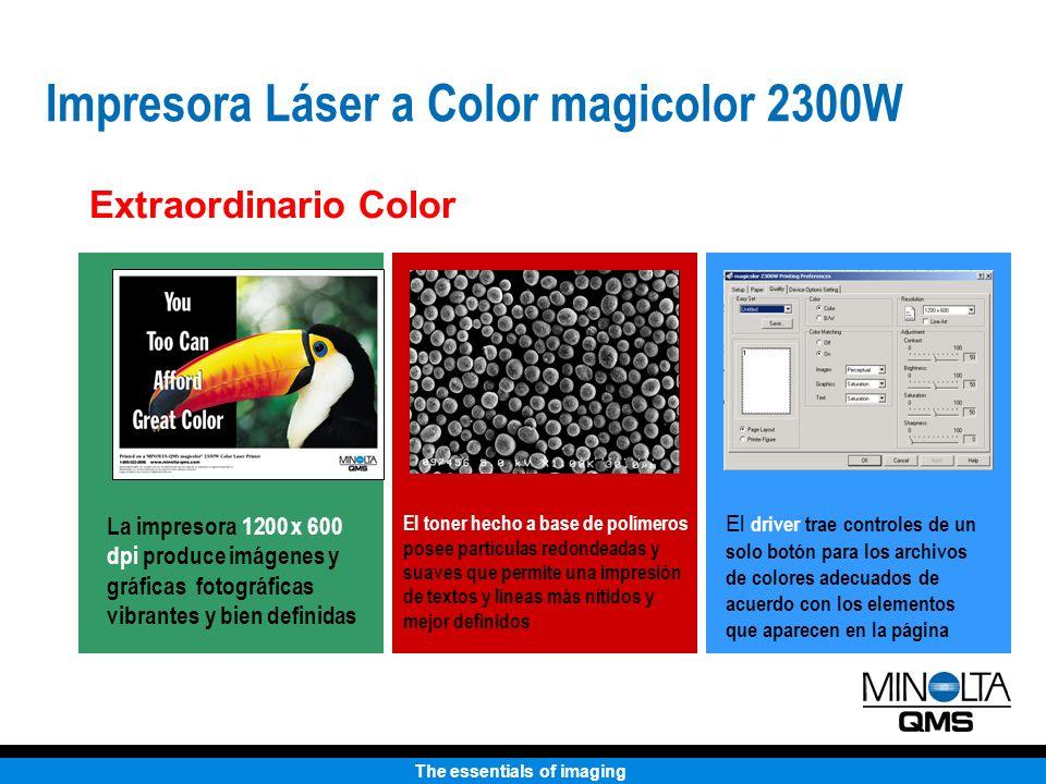 The essentials of imaging Impresora Láser a Color magicolor 2300W Qué puede usted esperar por $699 dólares.