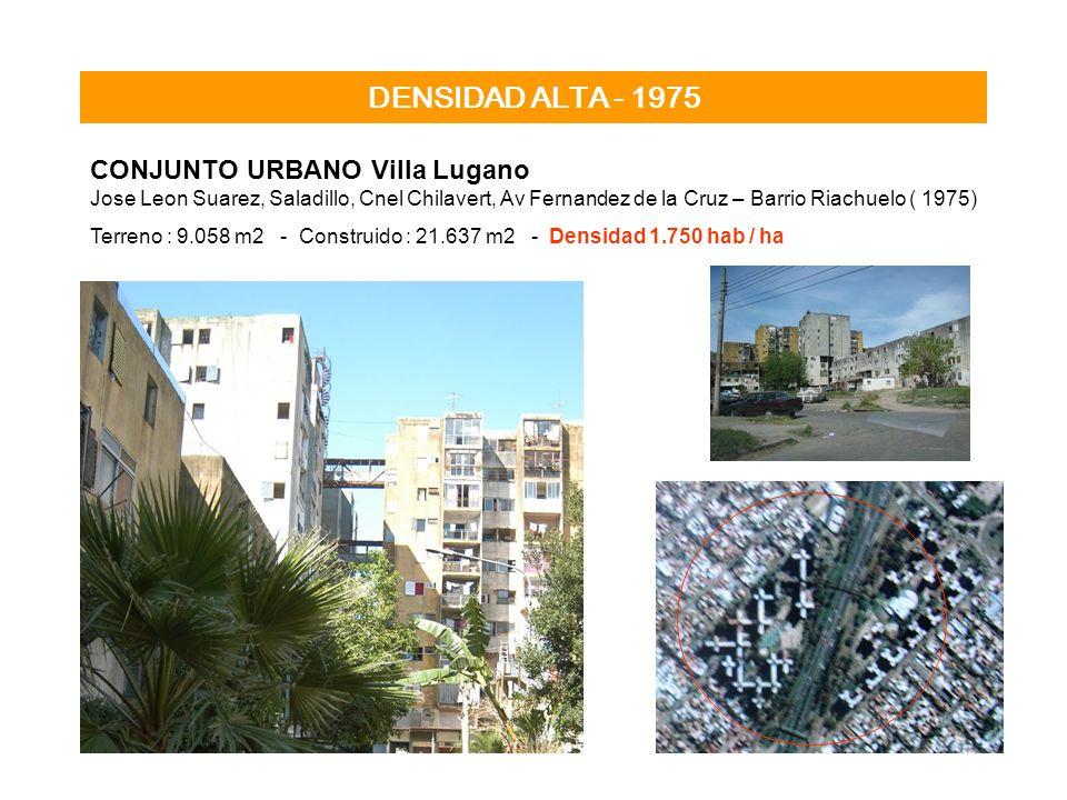 DENSIDAD ALTA - 1975 CONJUNTO URBANO Villa Lugano Jose Leon Suarez, Saladillo, Cnel Chilavert, Av Fernandez de la Cruz – Barrio Riachuelo ( 1975) Terr
