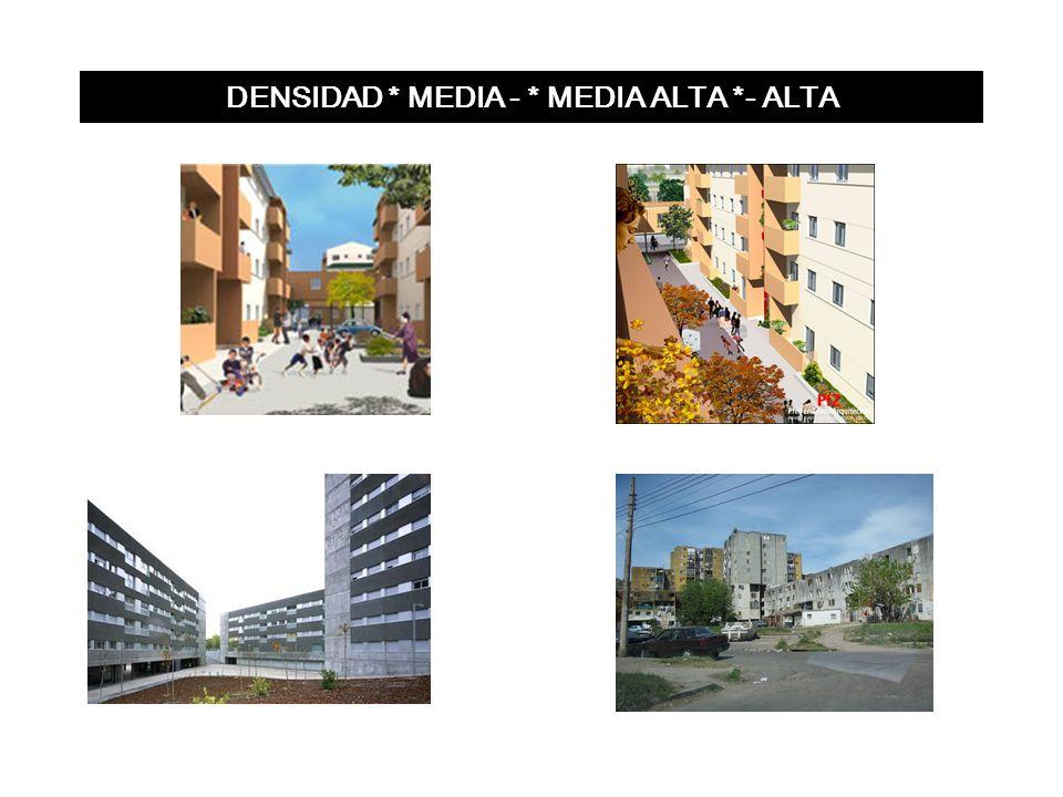 DENSIDAD * MEDIA - * MEDIA ALTA *- ALTA