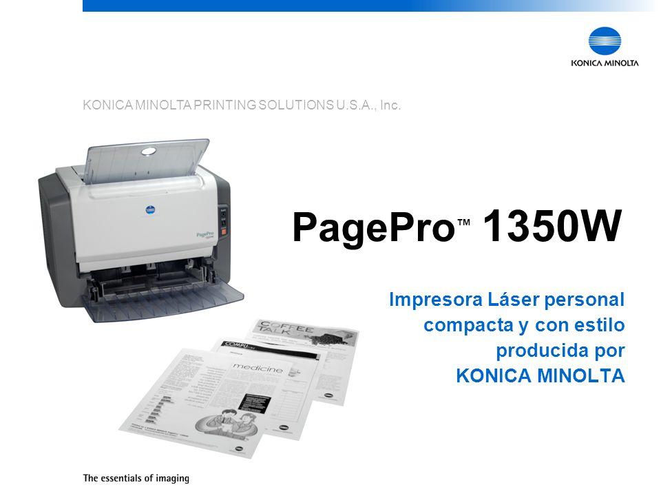 3 Marca KONICA MINOLTA Brand La PagePro 1350W es la primera impresora que se introduce al mercado con el nombre de KONICA MINOLTA