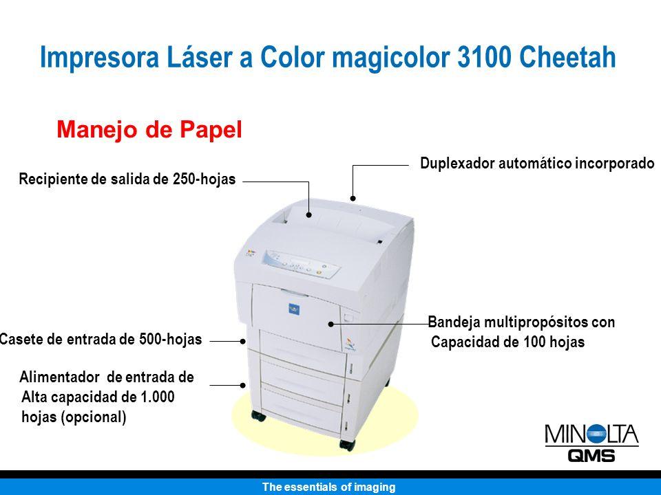 The essentials of imaging Manejo de Papel Duplexador automático incorporado Casete de entrada de 500-hojas Bandeja multipropósitos con Capacidad de 10