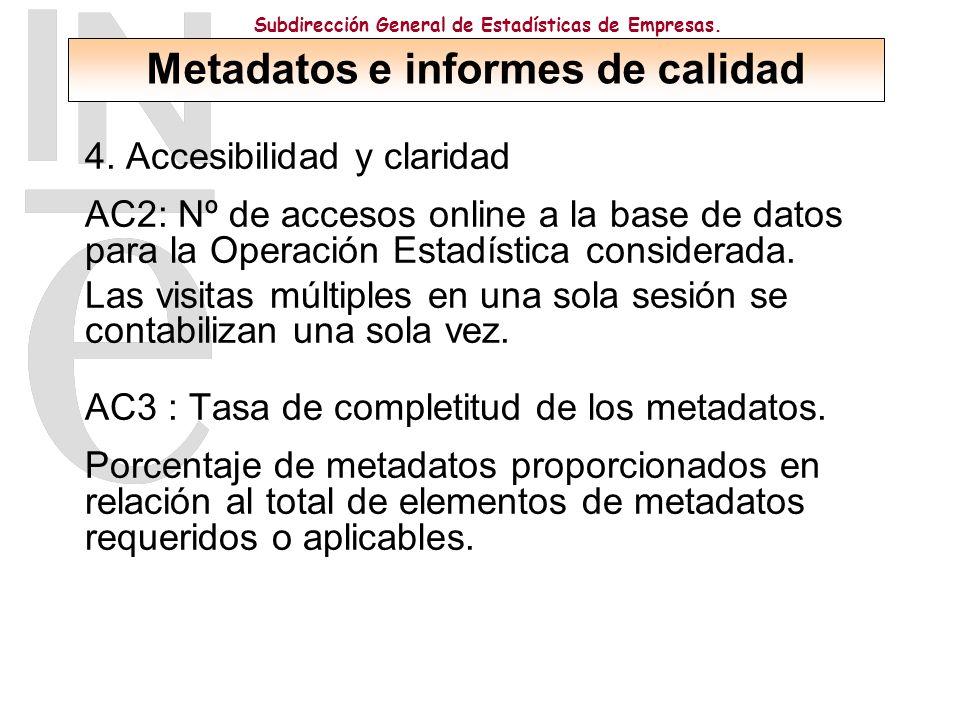 Subdirección General de Estadísticas de Empresas. 4.