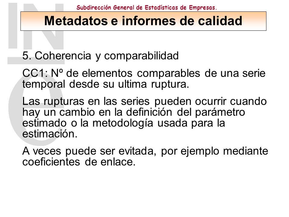 Subdirección General de Estadísticas de Empresas. 5.