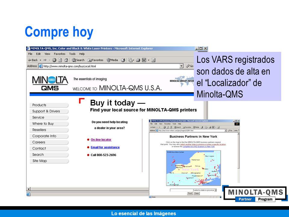 Lo esencial de las Imágenes Compre hoy Los VARS registrados son dados de alta en el Localizador de Minolta-QMS