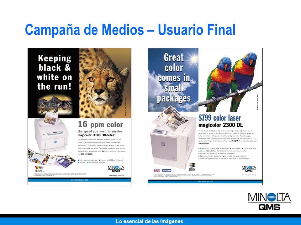Lo esencial de las Imágenes Campaña de Medios – Usuario Final