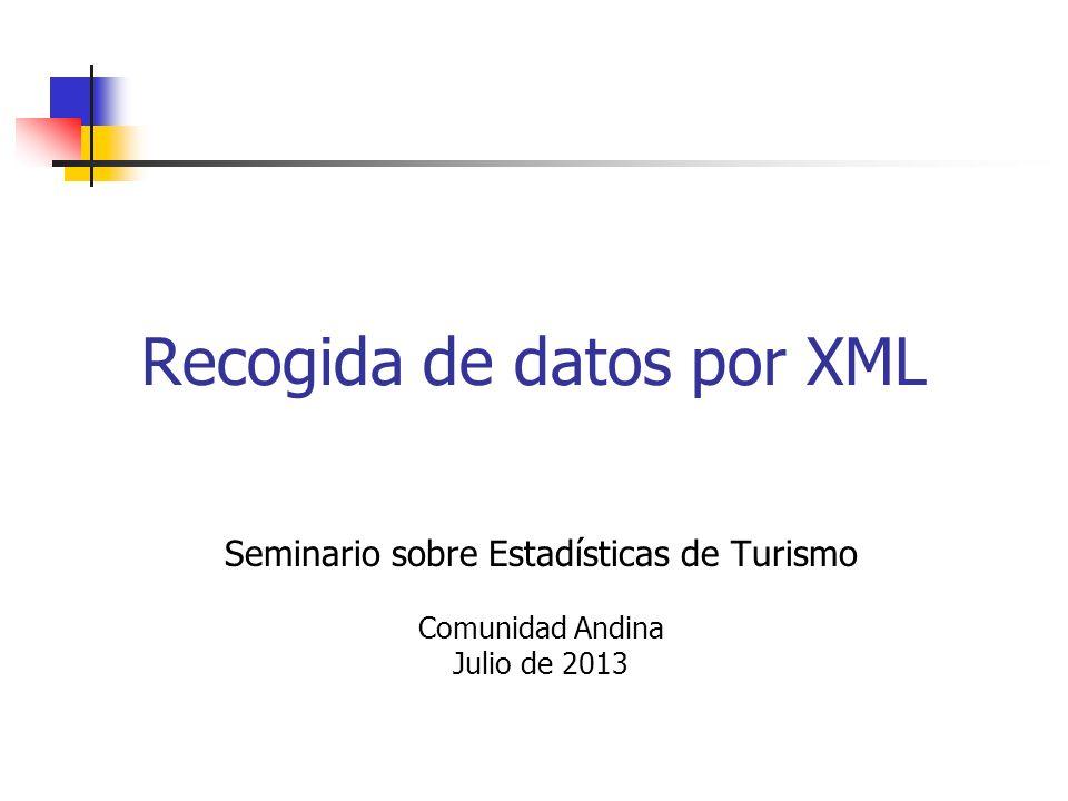 Recogida de datos por XML 1. Motivación 2. Ventajas e inconvenientes 3. Informes personalizados 3