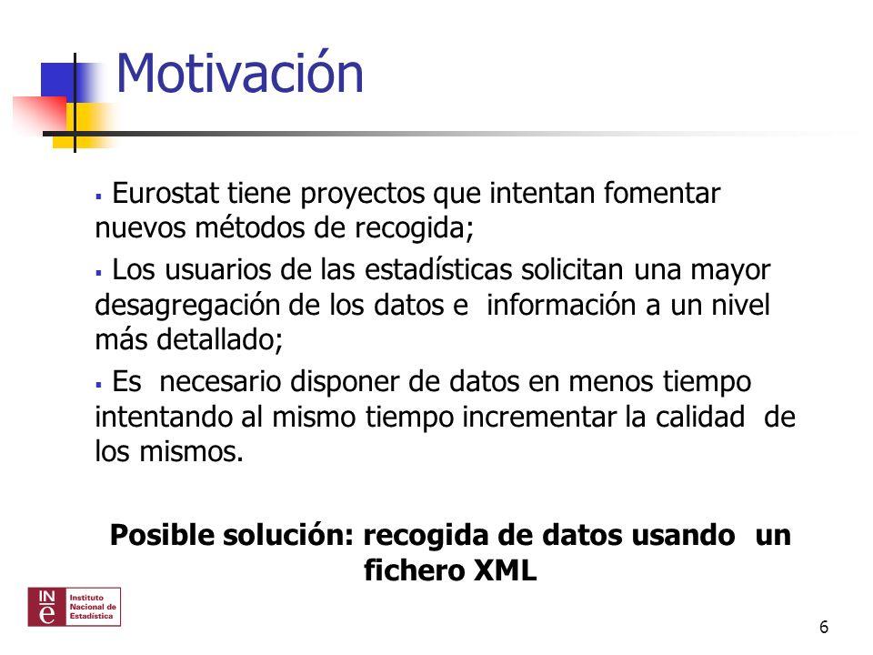 Fichero XML para la Encuesta de Ocupación Hotelera Información disponible en los sistemas de gestión de los establecimientos hoteleros.