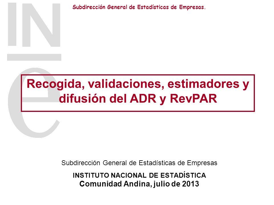 Subdirección General de Estadísticas de Empresas. Subdirección General de Estadísticas de Empresas INSTITUTO NACIONAL DE ESTADÍSTICA Comunidad Andina,