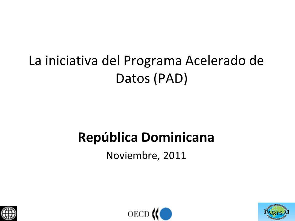 1 La iniciativa del Programa Acelerado de Datos (PAD) República Dominicana Noviembre, 2011