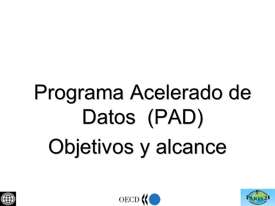 9 Programa Acelerado de Datos (PAD) Identifica 3 tareas: Tarea No 1: Documentación, diseminación y preservación de microdatos (estándares internacionales DDI y DC) Tarea No 2: Análisis y evaluación de la calidad de los microdatos existentes (armonización).