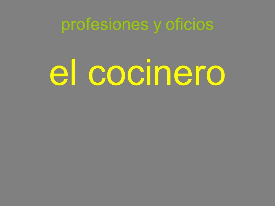 profesiones y oficios el cocinero