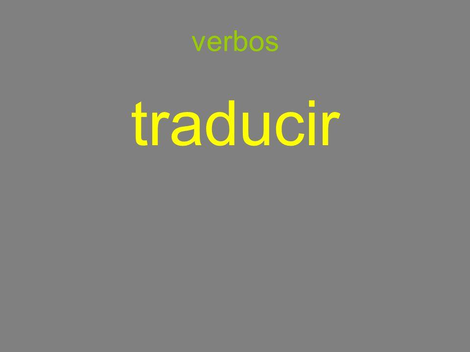 verbos traducir
