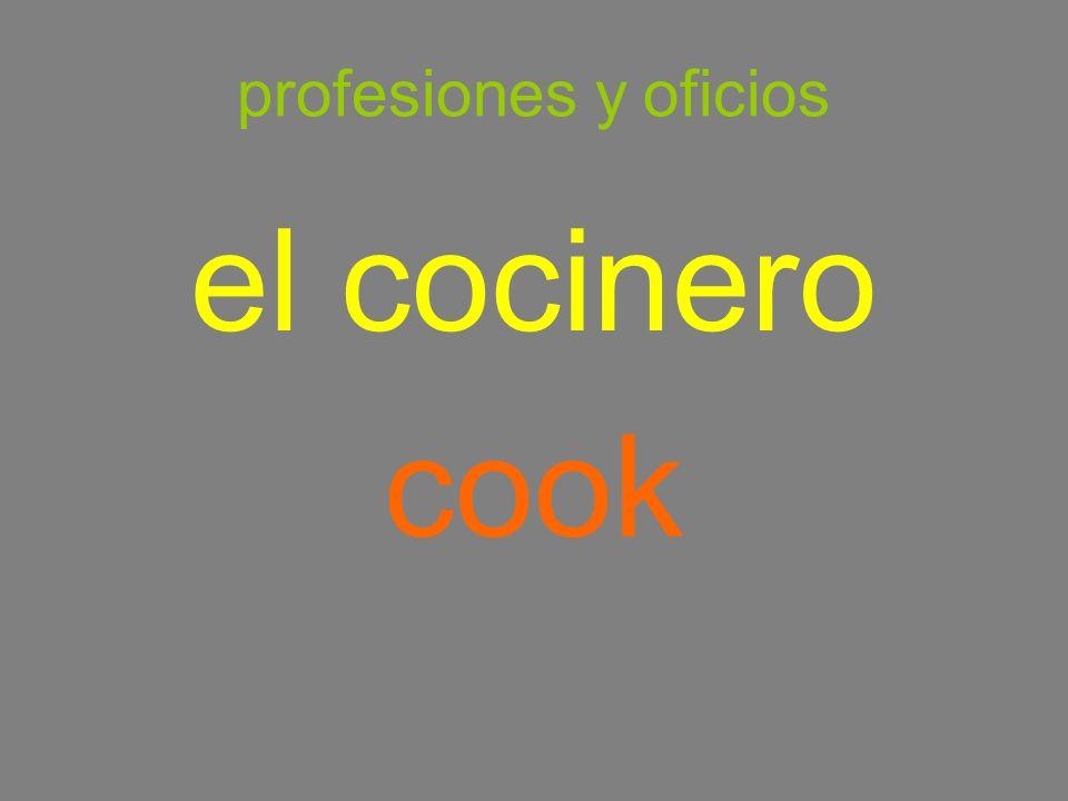profesiones y oficios el cocinero cook