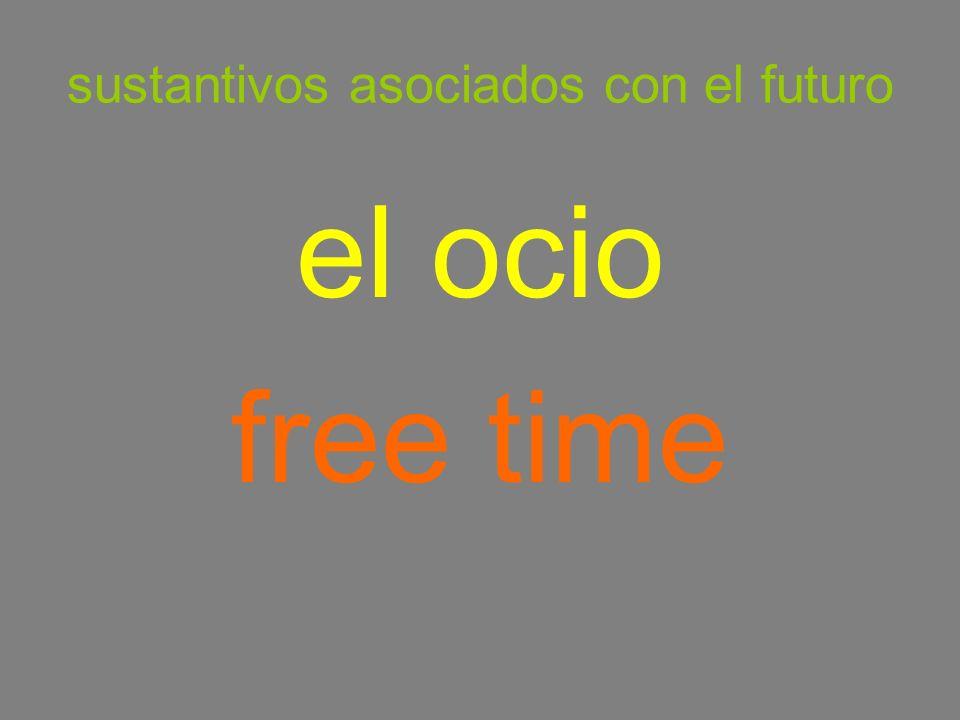 sustantivos asociados con el futuro el ocio free time