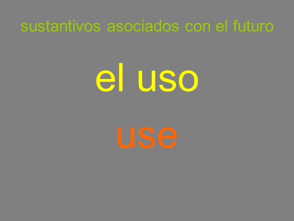 sustantivos asociados con el futuro el uso use