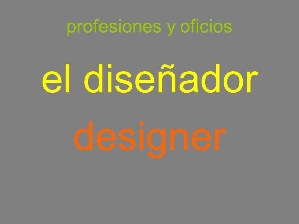 profesiones y oficios el diseñador designer