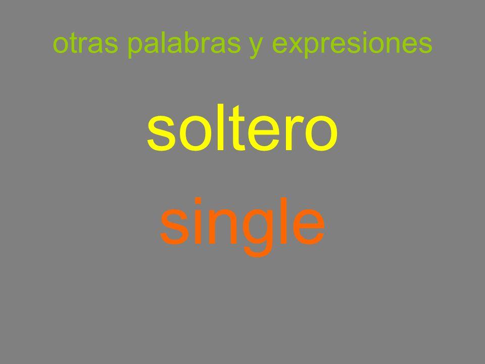 otras palabras y expresiones soltero single