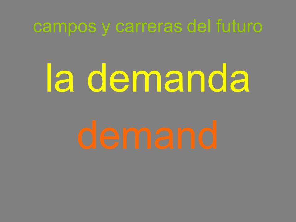 campos y carreras del futuro la demanda demand